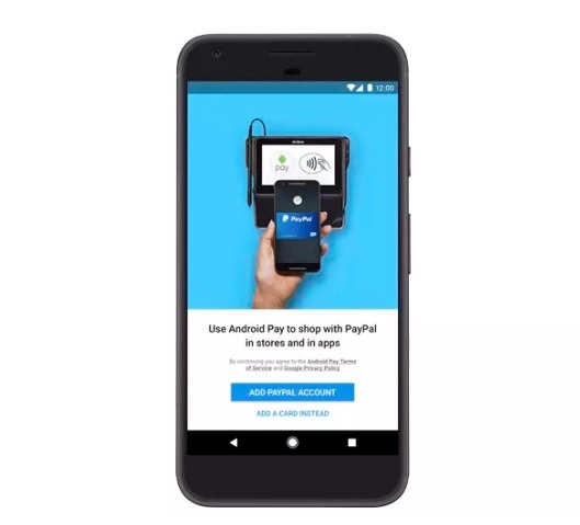 how to connect paypal to android pay